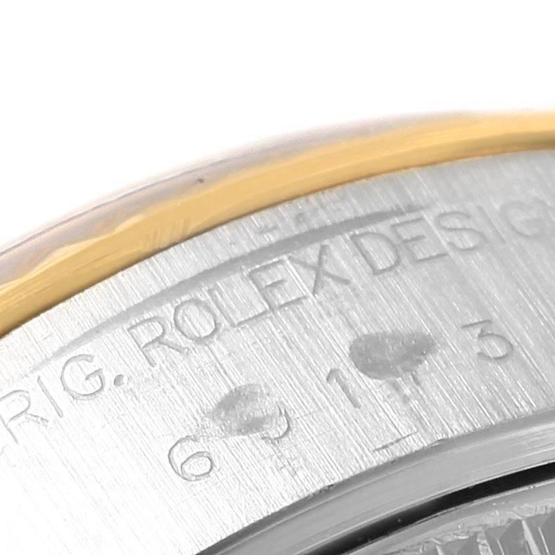 Rolex Datejust Yellow Gold Steel Blue Diamond Dial Ladies Watch 69173 SwissWatchExpo
