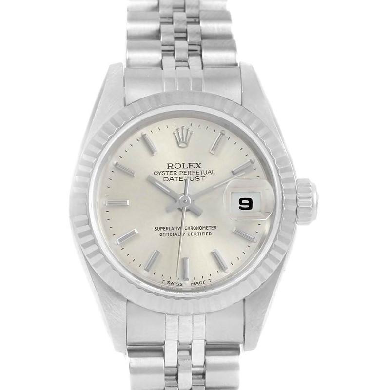 Rolex Datejust 26mm Steel White Gold Ladies Watch 69174 Box Papers SwissWatchExpo