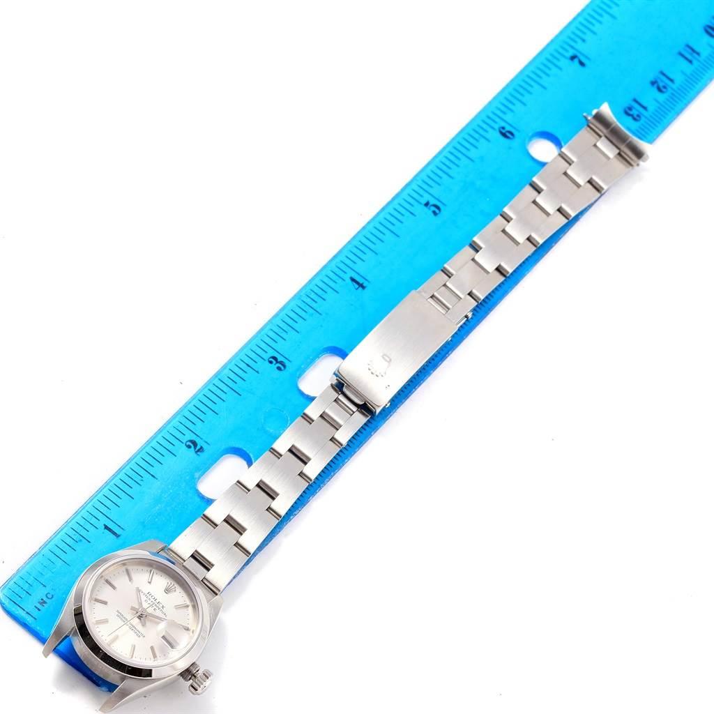 Rolex Date Silver Dial Oyster Bracelet Steel Ladies Watch 79160 SwissWatchExpo