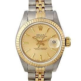 Photo of Rolex Datejust Ladies Ss 18k Yellow Gold Watch 69173
