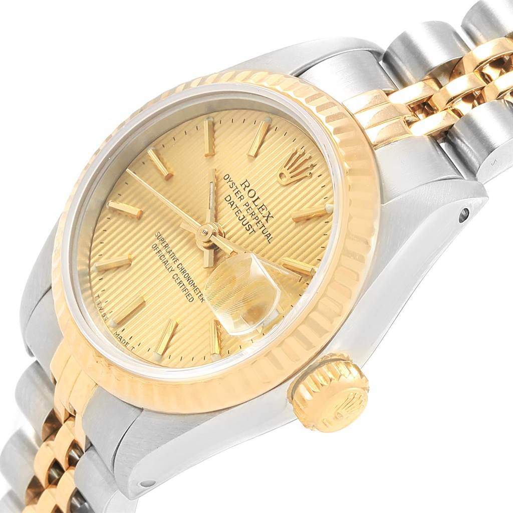 Rolex Datejust 26 Steel Yellow Gold Tapestry Dial Ladies Watch 69173 SwissWatchExpo