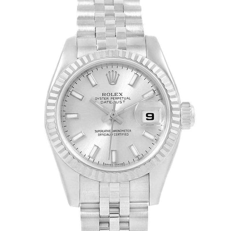 Rolex Datejust 26 Steel White Gold Jubilee Bracelet Ladies Watch 179174 SwissWatchExpo