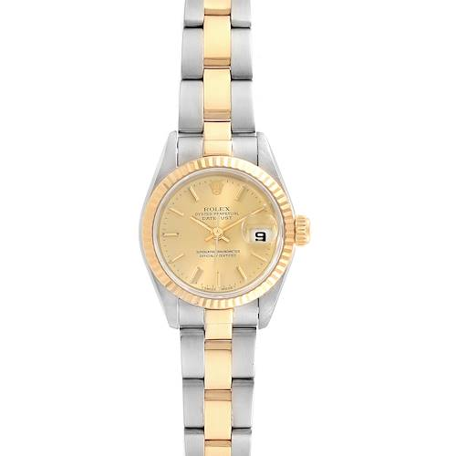 Photo of Rolex Datejust 26 Steel Yellow Gold Oyster Bracelet Ladies Watch 69173