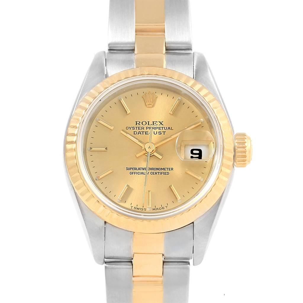 Rolex Datejust 26 Steel Yellow Gold Ladies Watch 69173 Box Papers SwissWatchExpo