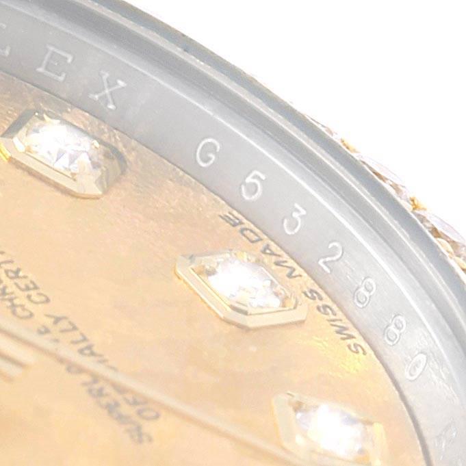 Rolex Datejust 26 Steel Yellow Gold Diamond Ladies Watch 179383 Box Card SwissWatchExpo