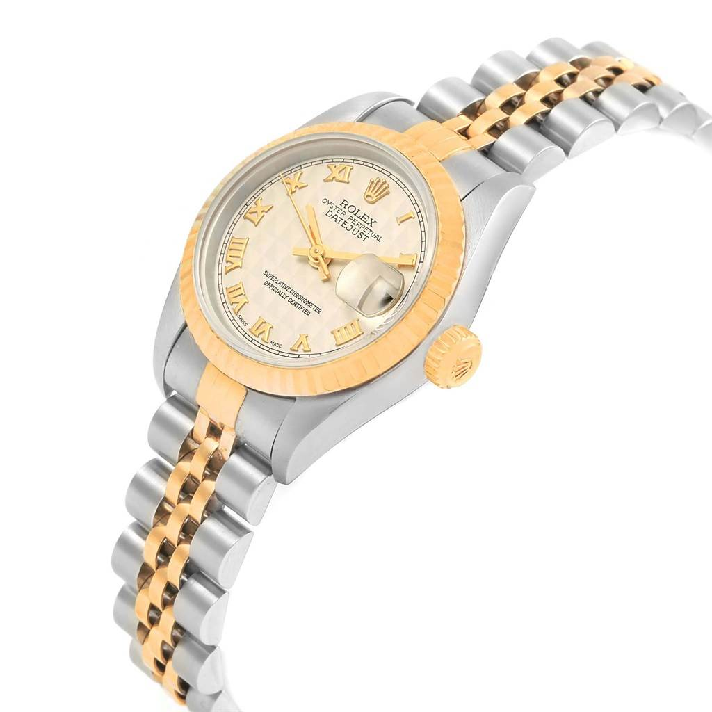 Rolex Datejust 26 Steel Yellow Gold Pyramid Dial Ladies Watch 69173 SwissWatchExpo
