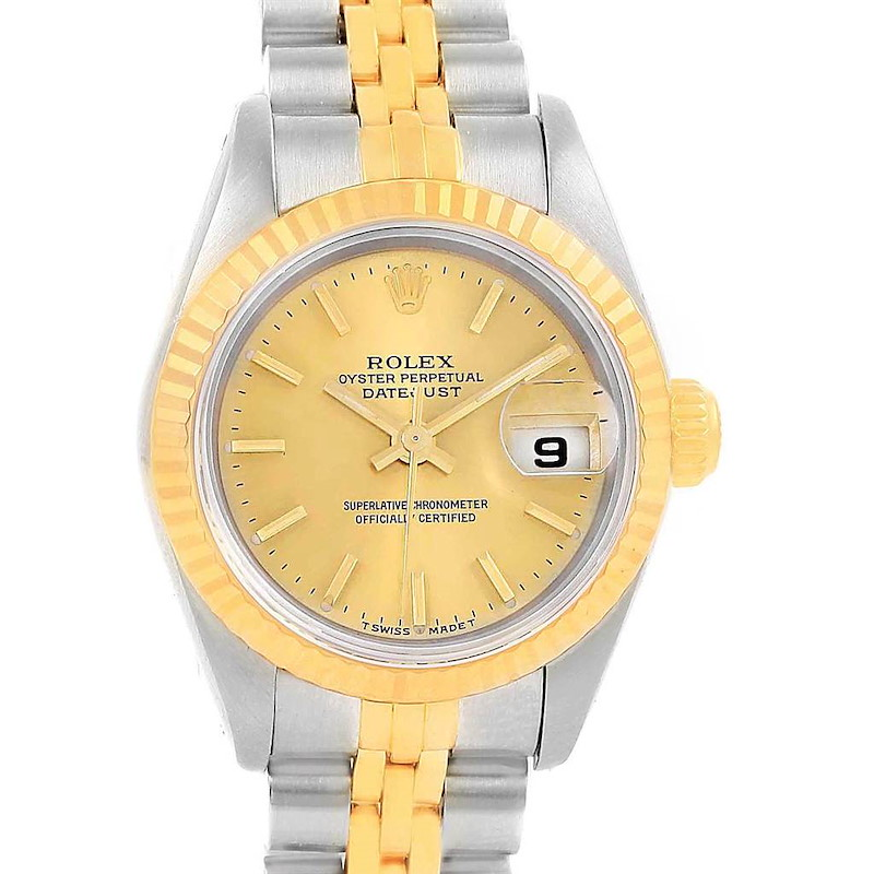 Rolex Datejust 26 Steel Yellow Gold Ladies Watch 79173 Box Papers SwissWatchExpo
