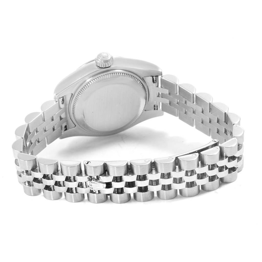 Rolex Datejust 26 White Dial Jubilee Bracelet Ladies Watch 179160 SwissWatchExpo