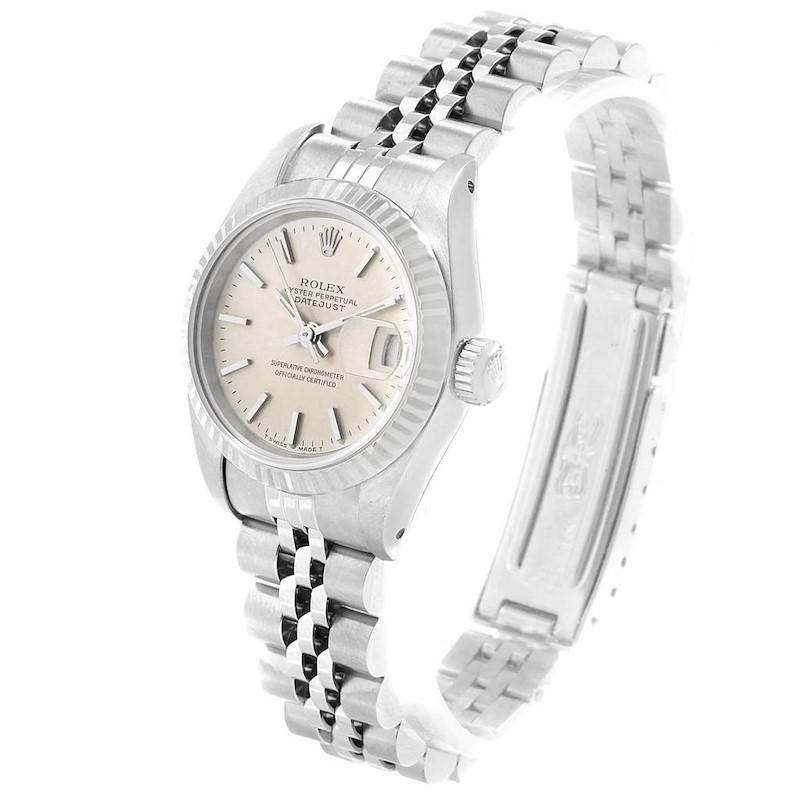Rolex Datejust 26 Steel White Gold Ladies Watch 69174 Box Papers SwissWatchExpo