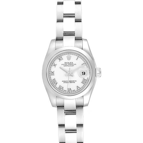 Rolex Datejust White Roman Dial Oyster Bracelet Ladies Watch 179160