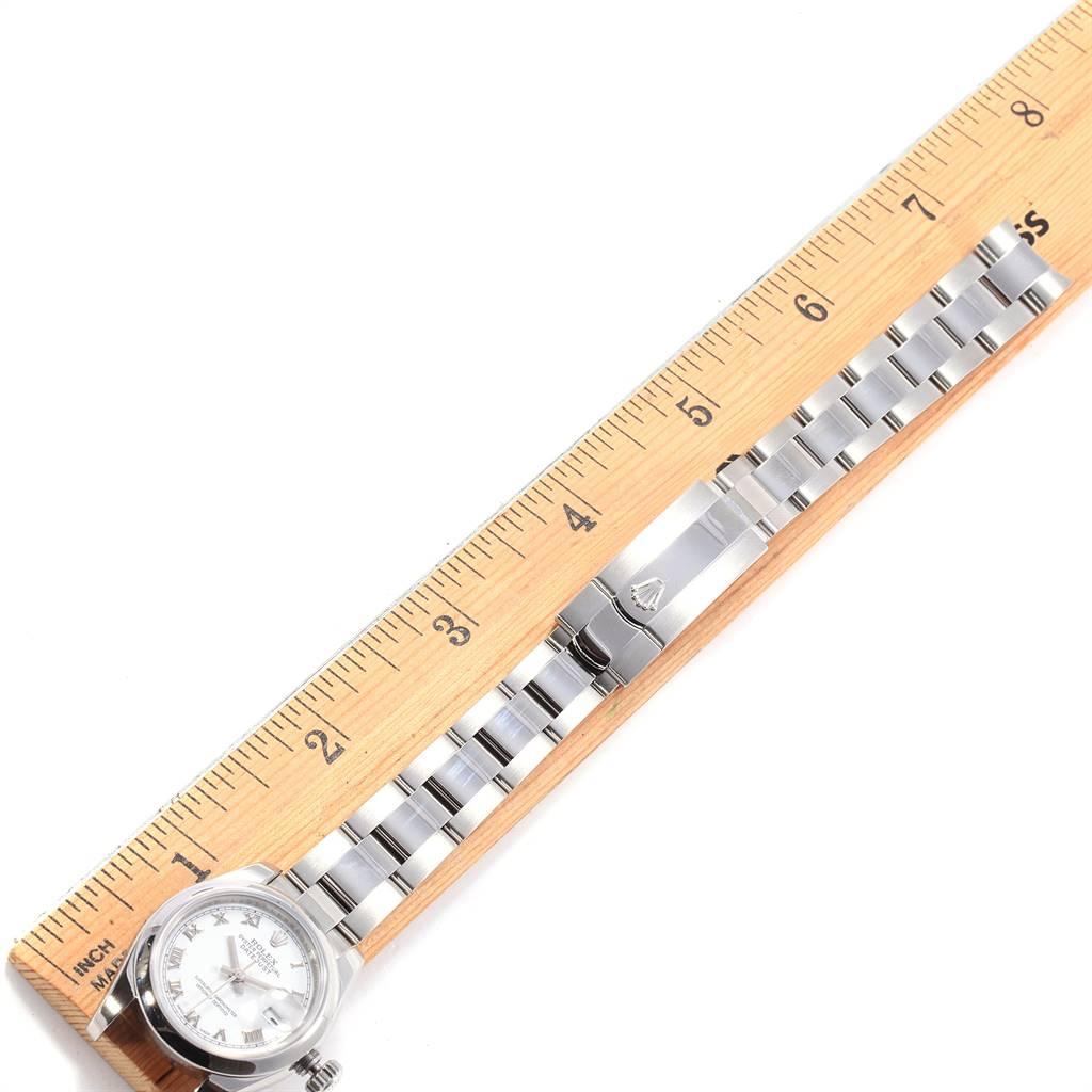 Rolex Datejust White Roman Dial Oyster Bracelet Ladies Watch 179160 SwissWatchExpo