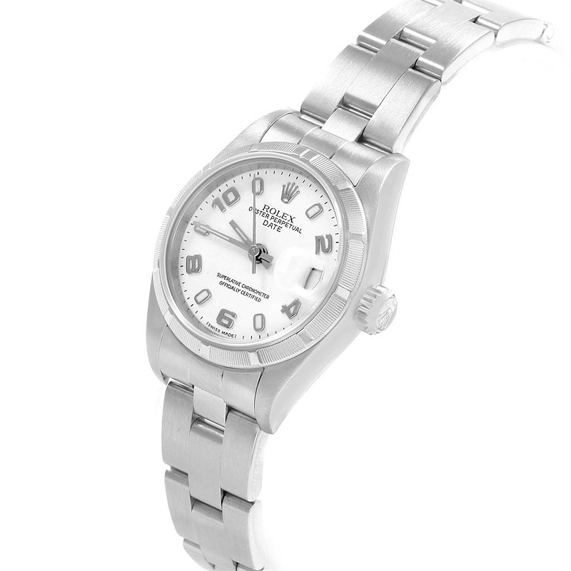 Rolex Datejust 26 White Dial Automatic Steel Ladies Watch 79190 SwissWatchExpo