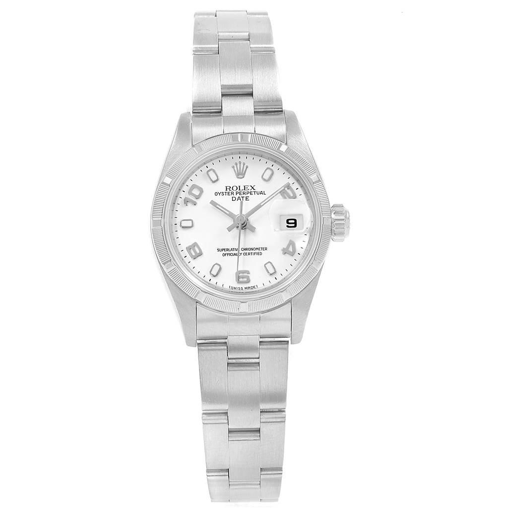 18674 Rolex Datejust 26 White Dial Automatic Steel Ladies Watch 79190 SwissWatchExpo