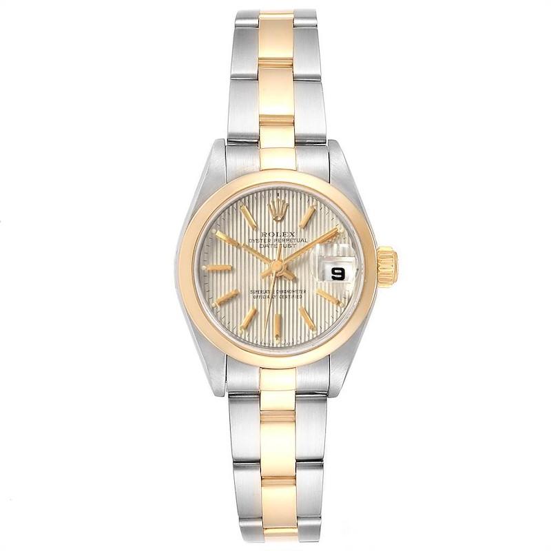Rolex Datejust Steel Yellow Gold Tapestry Dial Ladies Watch 79163 Box SwissWatchExpo