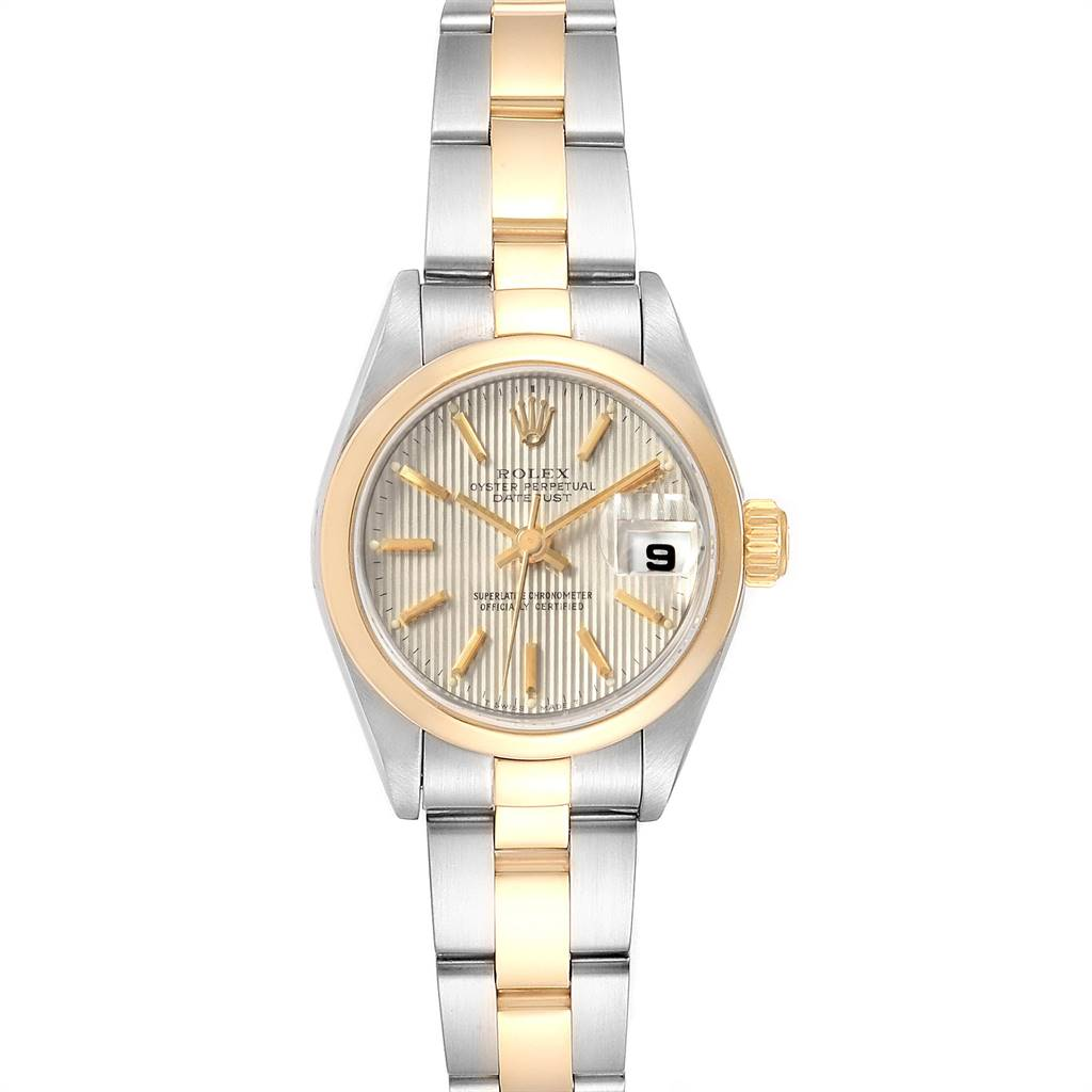 Rolex Datejust Steel Yellow Gold Tapestry Dial Ladies Watch 79163 Box