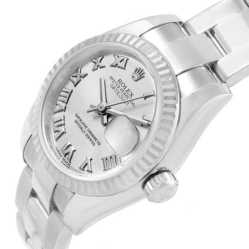 Rolex Datejust 26 Steel 18K White Gold Ladies Watch 179174 Box Card SwissWatchExpo