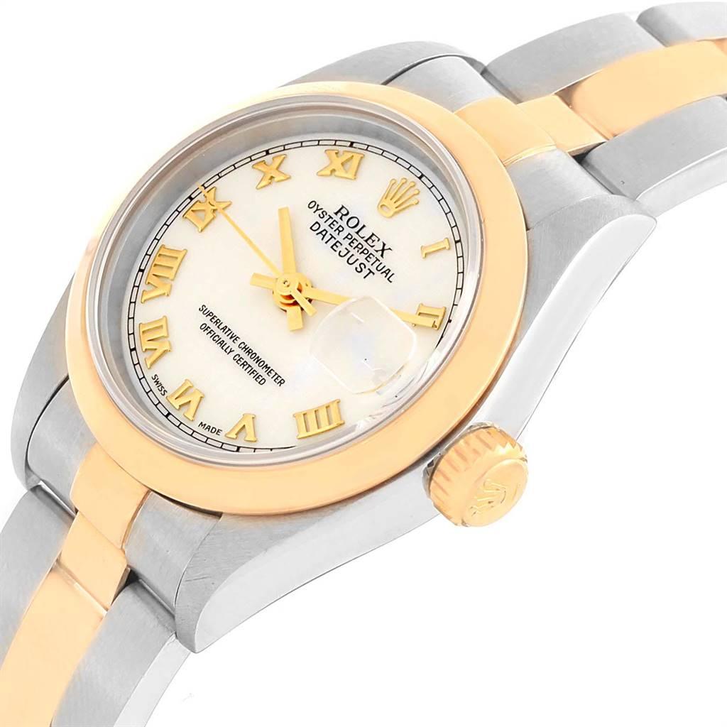 18717 Rolex Datejust 26 Steel Yellow Gold Ladies Watch 69163 Box Papers SwissWatchExpo