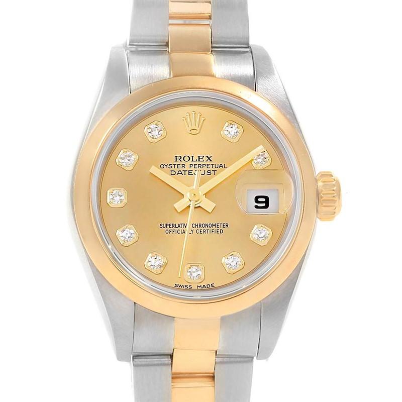 Rolex Datejust 26 Ladies Steel Yellow Gold Diamond Ladies Watch 79163 SwissWatchExpo