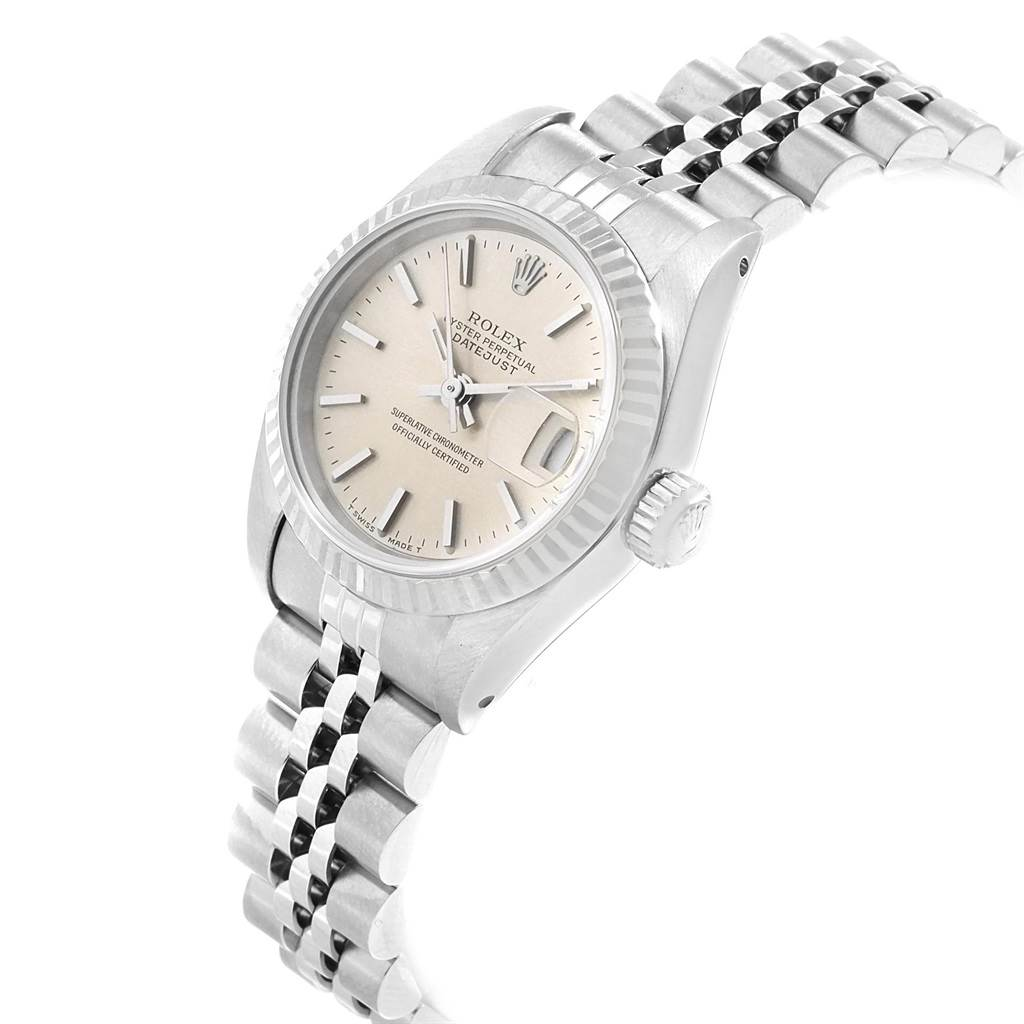 18549 Rolex Datejust 26 Steel White Gold Silver Dial Ladies Watch 69174 SwissWatchExpo