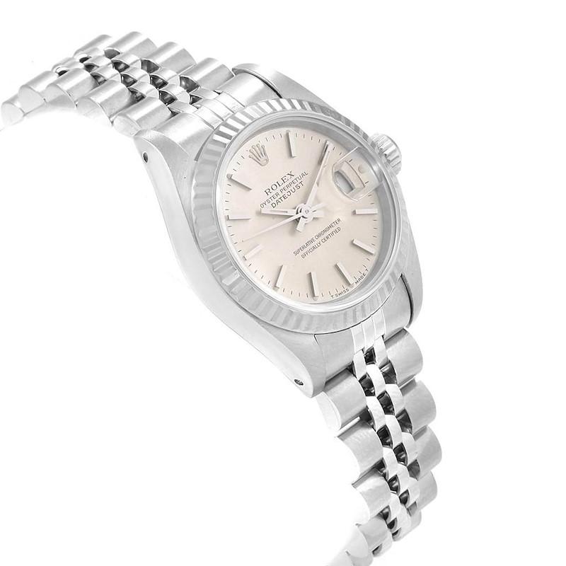 Rolex Datejust 26 Steel White Gold Silver Dial Ladies Watch 69174 SwissWatchExpo
