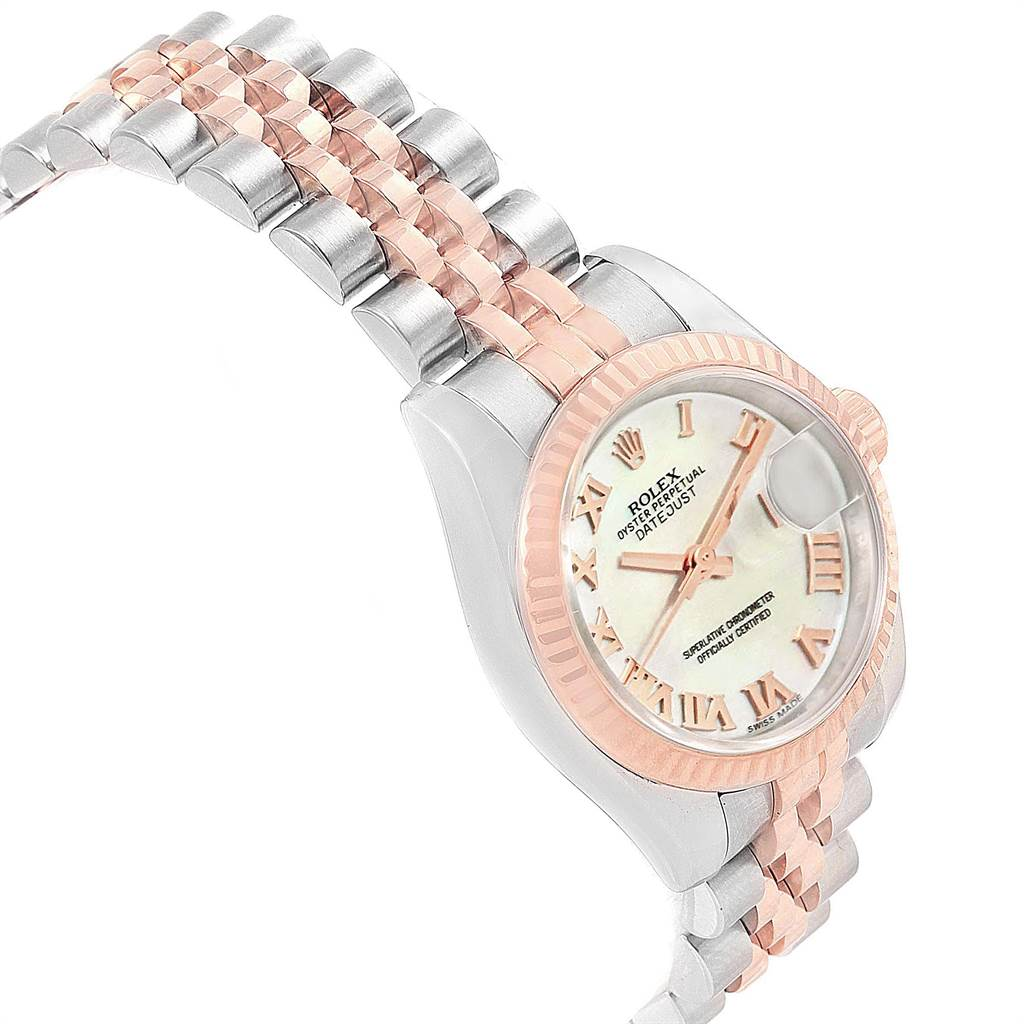 Rolex Datejust 26 Ladies Steel EveRose Gold MOP Roman Dial Watch 179171 SwissWatchExpo