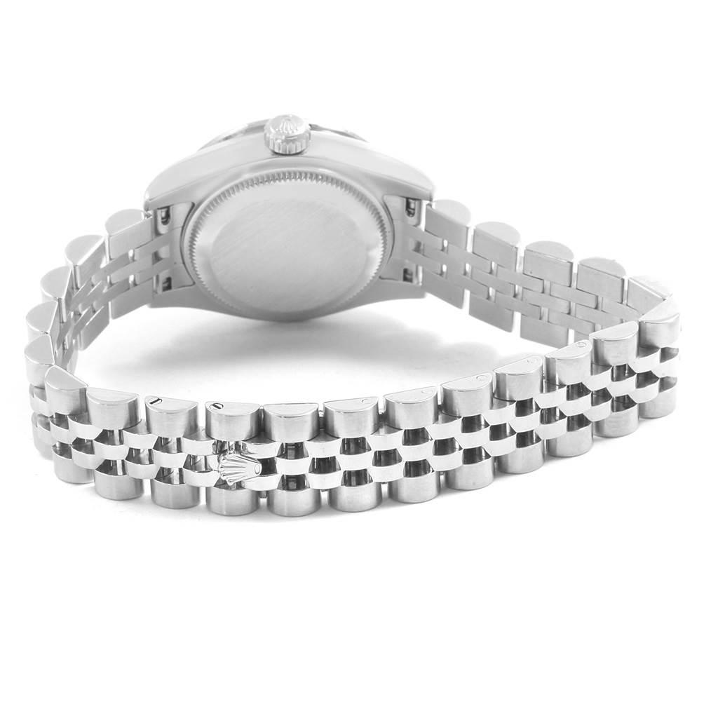 Rolex Datejust 26 Steel White Gold MOP Diamond Watch 179384 Box Card SwissWatchExpo