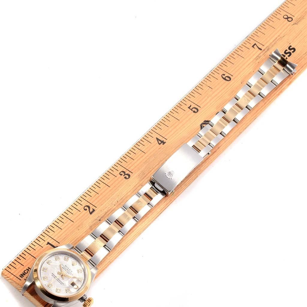 19135 Rolex Datejust Steel Yellow Gold Meteorite Diamond Ladies Watch 79163 SwissWatchExpo