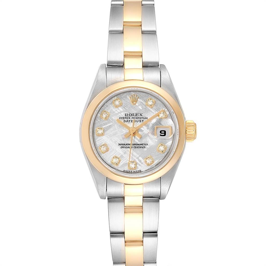 Rolex Datejust Steel Yellow Gold Meteorite Diamond Ladies Watch 79163 Box Papers SwissWatchExpo