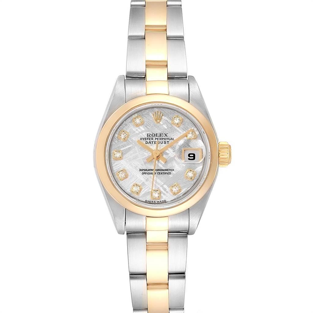 Rolex Datejust Steel Yellow Gold Meteorite Diamond Ladies Watch 79163 Box Papers