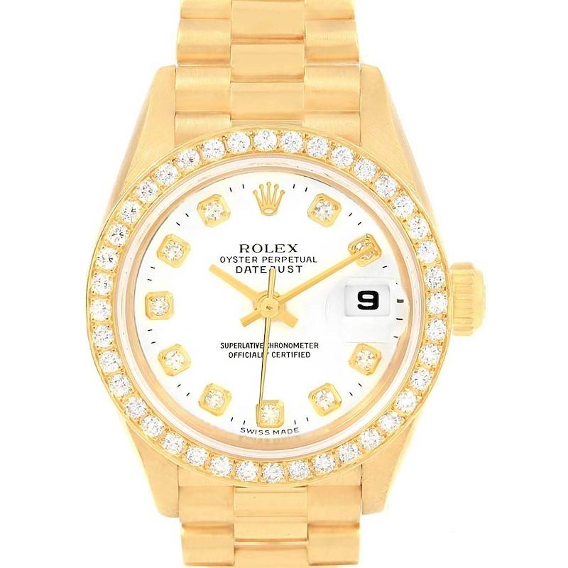Rolex President Datejust 26 Yellow Gold Diamond Ladies Watch 79178 SwissWatchExpo