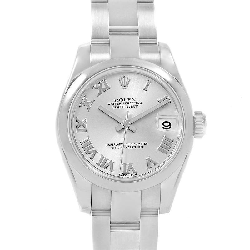 Rolex Datejust 26 Silver Dial Oyster Bracelet Ladies Watch 179160 SwissWatchExpo
