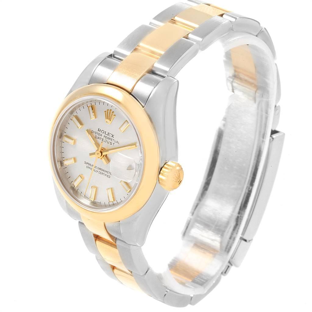 Rolex Datejust Ladies Steel 18K Yellow Gold Silver Dial Watch 179163 SwissWatchExpo