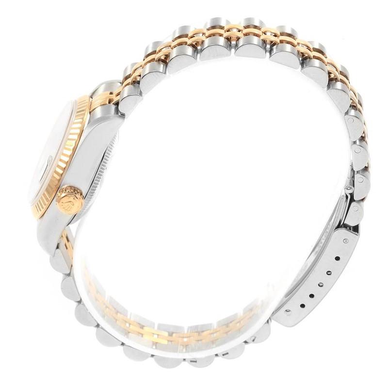 Rolex Datejust 26 Steel Yellow Gold Black Dial Ladies Watch 69173 SwissWatchExpo