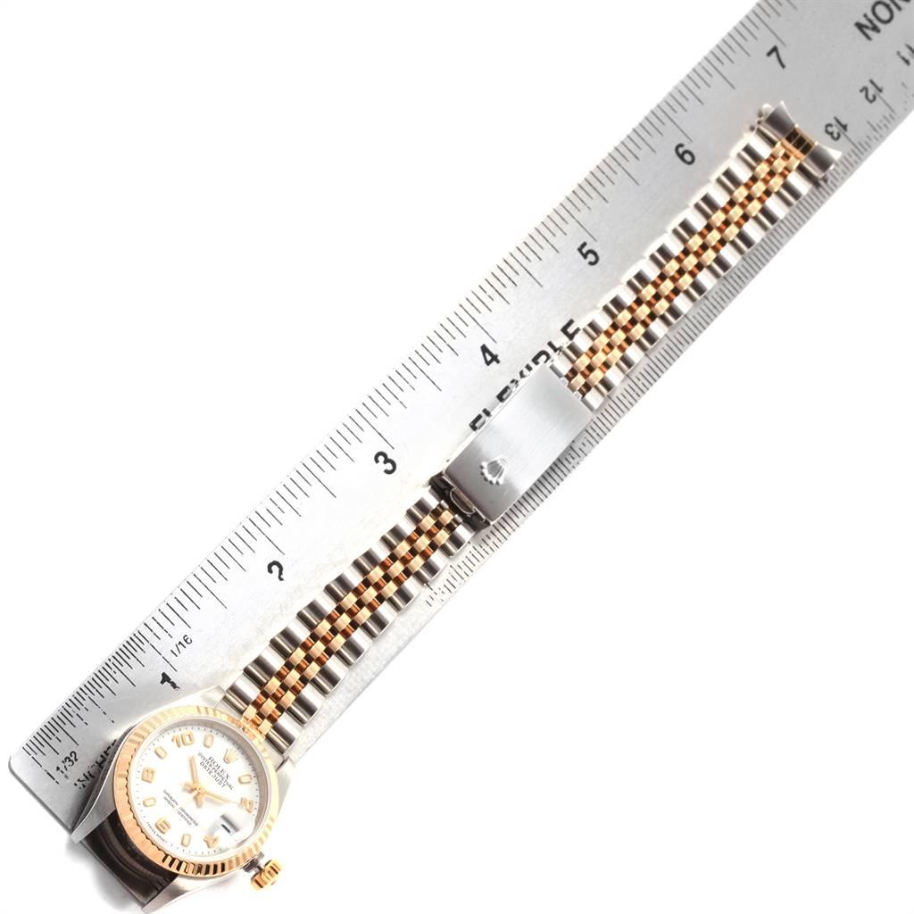 19832 Rolex Datejust 26 Steel Yellow Gold White Dial Ladies Watch 79173 SwissWatchExpo