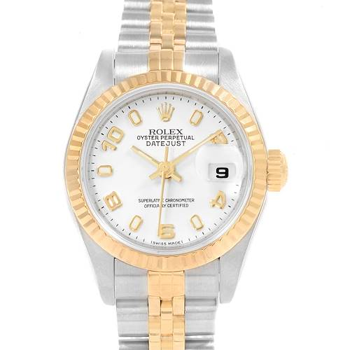 Photo of Rolex Datejust 26 Steel Yellow Gold White Dial Ladies Watch 79173
