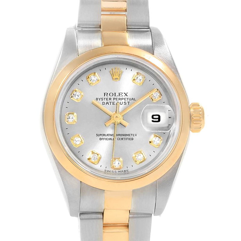 Rolex Datejust Steel Yellow Gold Diamond Ladies Watch 79163 SwissWatchExpo