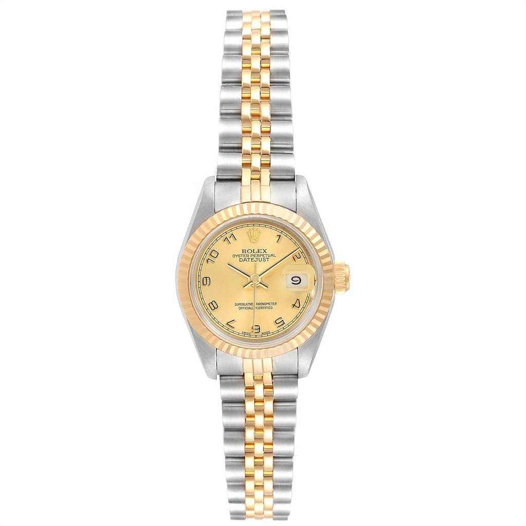 Rolex Datejust Steel Yellow Gold Arabic Dial Ladies Watch 79173 SwissWatchExpo
