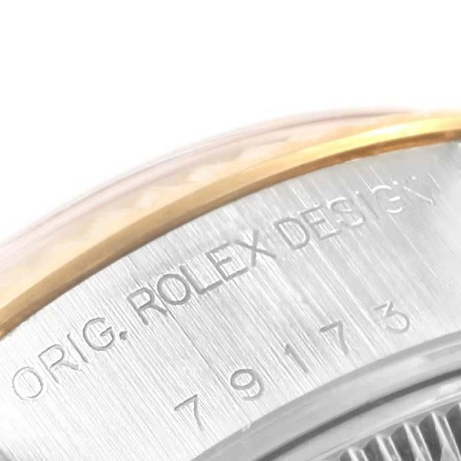 19813 Rolex Datejust Steel Yellow Gold Arabic Dial Ladies Watch 79173 SwissWatchExpo