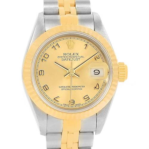 Photo of Rolex Datejust Steel Yellow Gold Arabic Dial Ladies Watch 79173