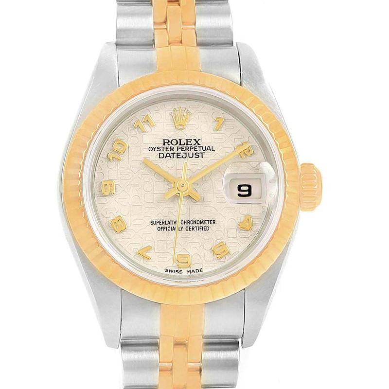 Rolex Datejust 26 Steel Yellow Gold Anniversary Dial Ladies Watch 79173 SwissWatchExpo
