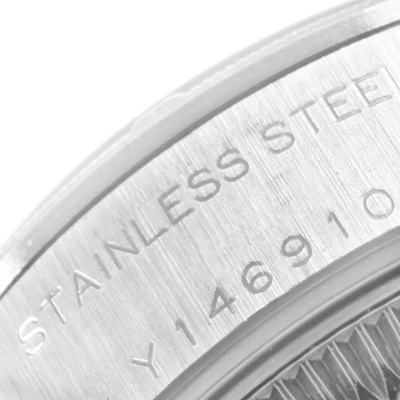 Rolex Datejust 26 Stainless Steel Black Baton Dial Ladies Watch 79190 SwissWatchExpo