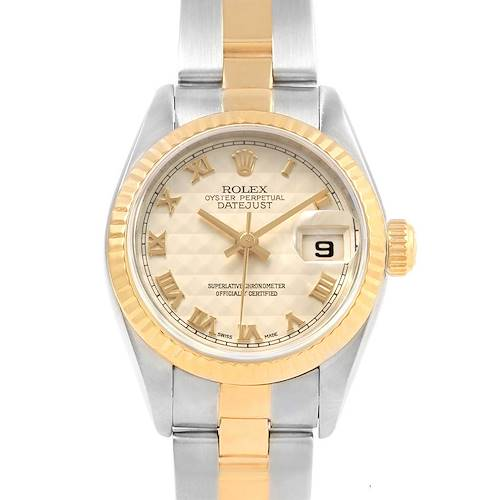 Photo of Rolex Datejust Steel Yellow Gold Anniversary Dial Ladies Watch 79173