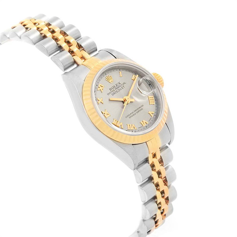 Rolex Datejust Steel Yellow Gold Slate Roman Dial Ladies Watch 69173 SwissWatchExpo