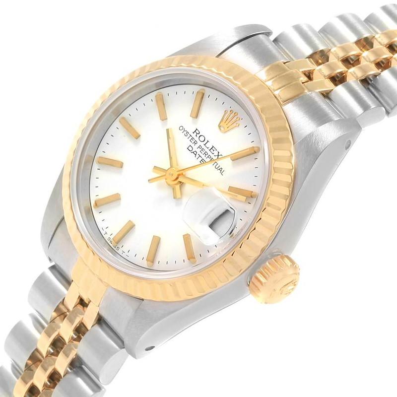 Rolex Datejust 26 Steel Yellow Gold White Dial Ladies Watch 69173 SwissWatchExpo