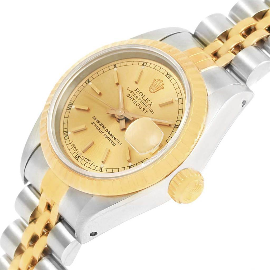 Rolex Datejust 26mm Steel 18K Yellow Gold Ladies Watch 69173 SwissWatchExpo