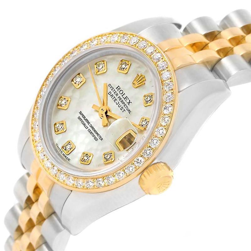 Rolex Datejust 26 Steel Yellow Gold MOP Diamond Watch 179383 Box Card SwissWatchExpo