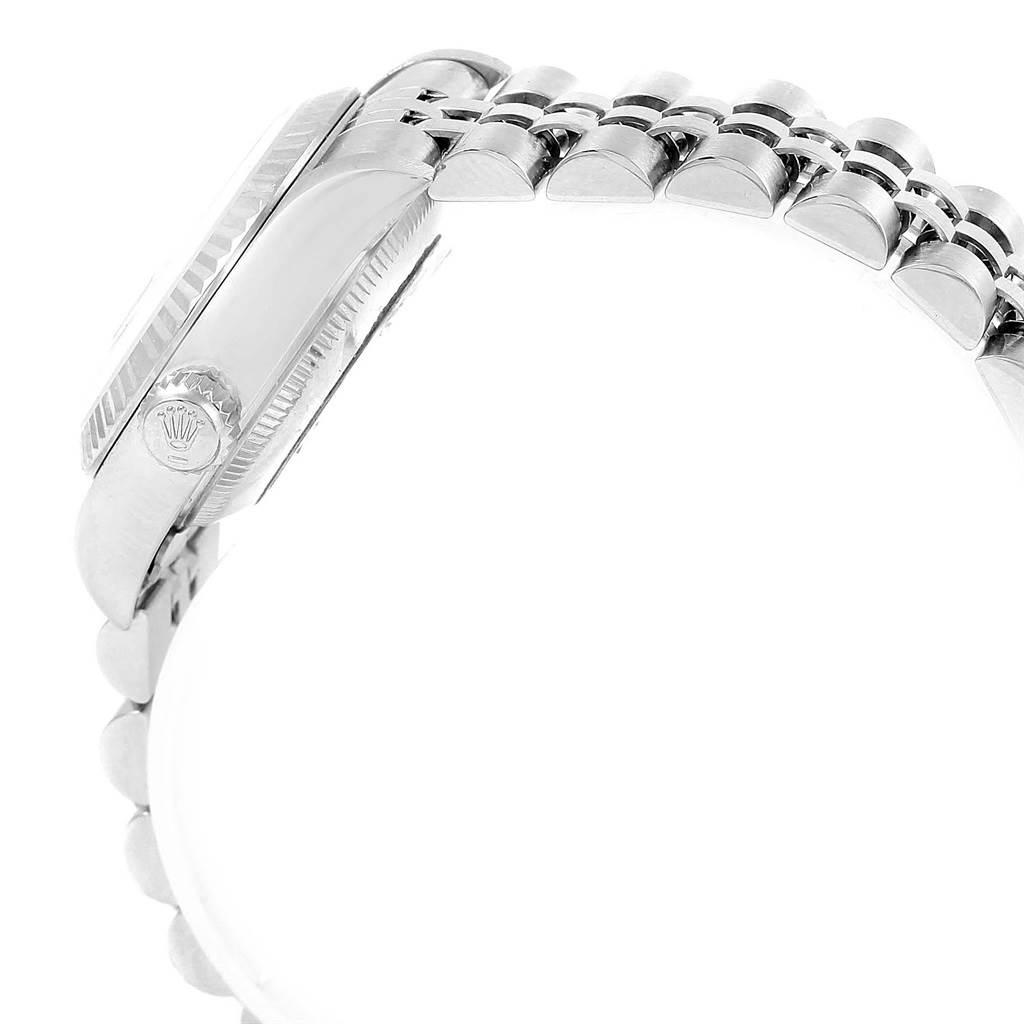 20401 Rolex Datejust Ladies Steel White Gold Salmon Roman Dial Watch 69174 SwissWatchExpo