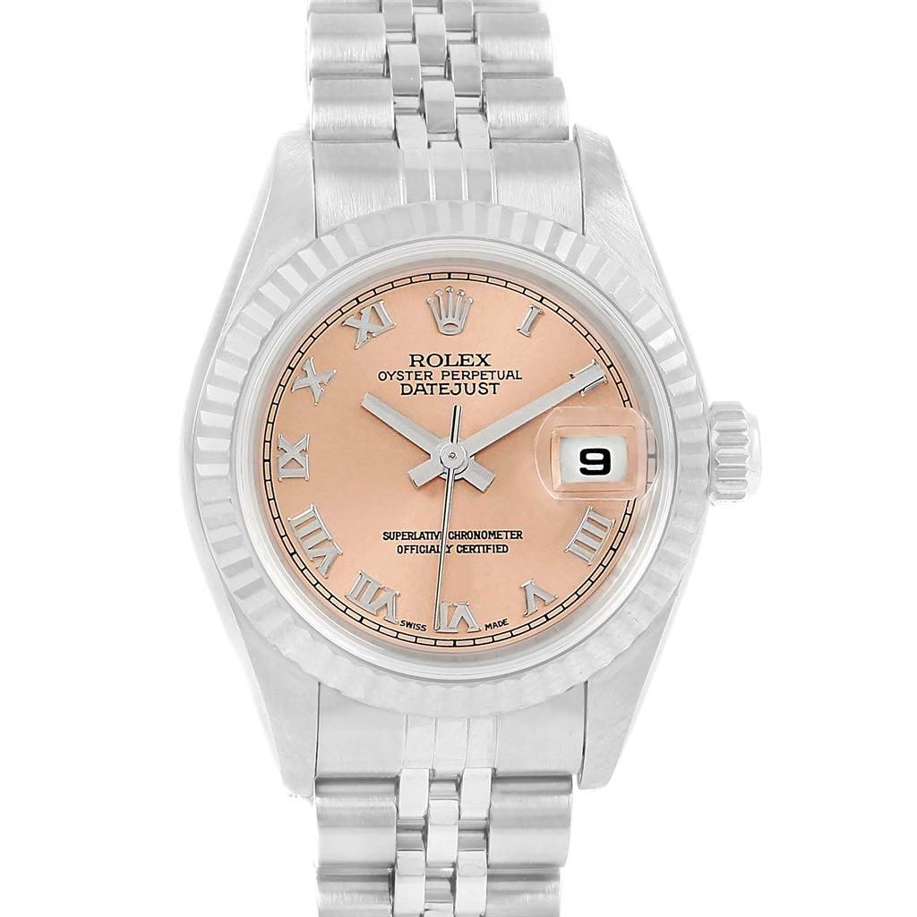 ab1797d8ed0 ... 20401 Rolex Datejust Ladies Steel White Gold Salmon Roman Dial Watch  69174 SwissWatchExpo ...