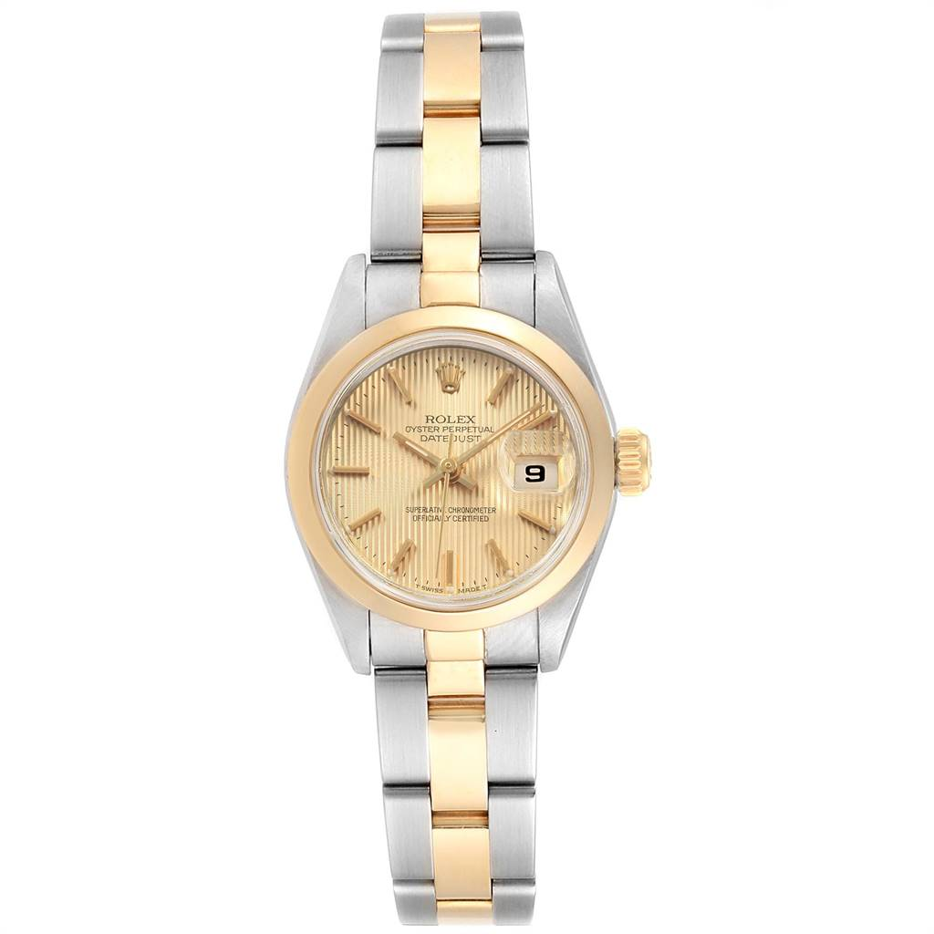 16457 Rolex Datejust Steel Yellow Gold Tapestry Dial Ladies Watch 69163 SwissWatchExpo