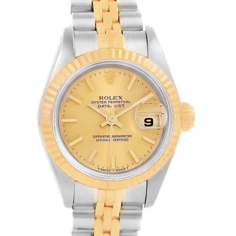 Rolex Datejust 26mm Steel 18K Yellow Gold Ladies Watch 69173 Papers SwissWatchExpo
